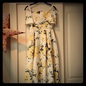 ASOS Floral Off the Shoulder hi-lo Dress